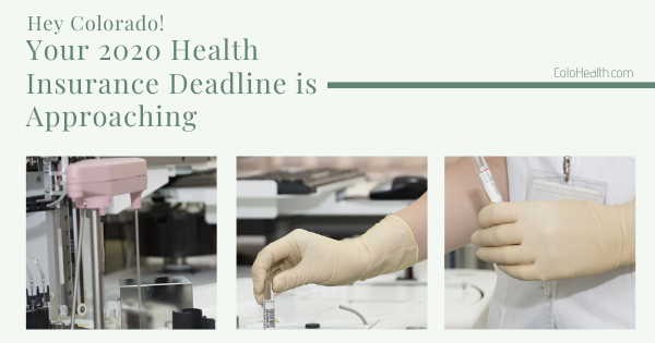 Hey Colorado! Your 2020 Health Insurance Deadline is Approaching
